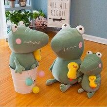 New Creative Cute Crocodile Small Yellow Duck Plush Toy Stuffed Animal Soft Doll Toys Children Birthday Gifts