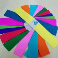 10 unids/set arruga papel hecho a mano Origami de Color sólido Material de bricolaje flor rollos para envolver crepé papel de adornos de fiesta doméstica