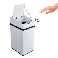 7L Mini Stainless Steel Rubbish Bin Automatic CWith Inner Bucket For Home Kitchen Car Office School Hotel