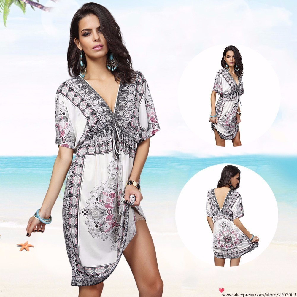 Summer Palace Sexy Women Cover Up Large Plus Size Beach Dress Beachwear Swimwear Bikini Cover Up Tunic
