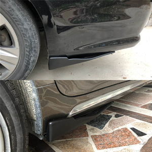 Image 5 - 2 pièces voiture lèvre arrière côté jupe pare chocs Spoiler arrière lèvre Angle séparateur diffuseur Anti crash modifié diviseurs diffuseur Winglet