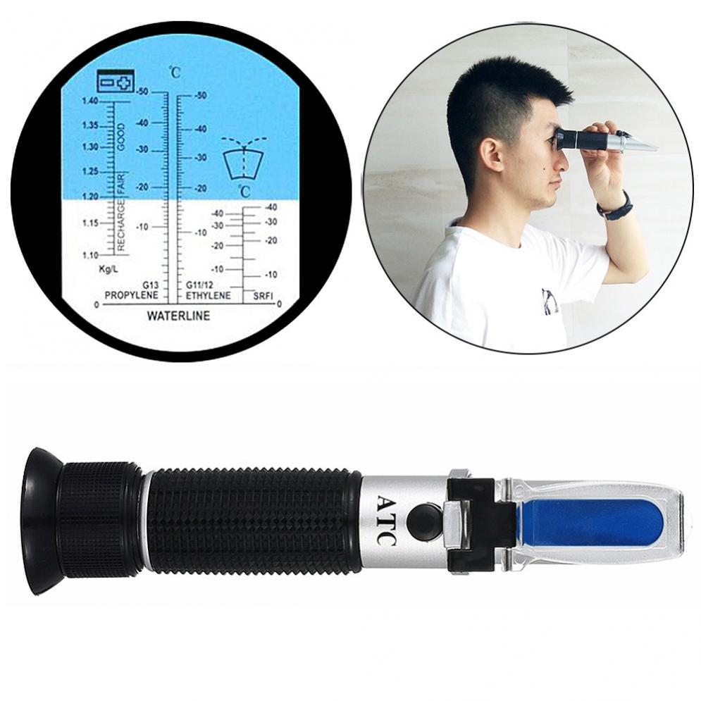 Automotive Antifreez Refractometer Freezing point Urea Adblue Battery fluid Glass water tester meter ATC Tool atc aluminum refractometer tester glycol antifreeze liquid battery fluid