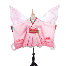 Anime VOCALOID cosplay Hatsune Miku kimono GSC racing dress Cosplay Costume pink clothing wing A