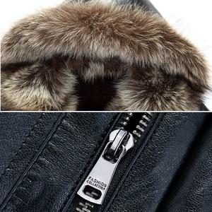 Image 4 - Holyrising inverno plutônio jaquetas de couro casaco de pele masculina com capuz falso jaquetas de couro engrossar casaco de inverno dos homens mais tamanho 3xl 4xl 18296