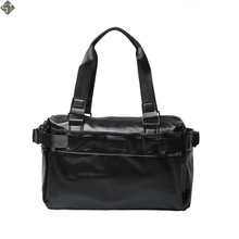FUSHAN New Arrival Oil Wax Leather Handbags For Men Large-Capacity Portable Shoulder Bags Men's Travel Bags Travel Package