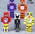 5pcs/set Five Night At Freddy Building Blocks With Weapons Minifigures 13cm Fox Bear Bonnie PVC Anime Figure Dolls Kids Toys