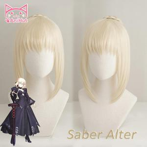 Image 1 - 【AniHut】Alter Saber Wig Fate Grand Order Cosplay Wig Synthetic Heat Resistant Hair Saber