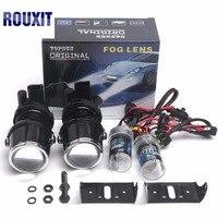 2 inch H3 xenon hid Car FOG LIGHT PROJECTOR LENS Kit 35W High Power Fog lights Projector Lenses 12V projector car HID Fog Lamps