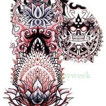 Водонепроницаемая временная татуировка наклейка на плечо большой буддизм Тотем тату наклейка s флэш-тату поддельные татуировки для мужчин