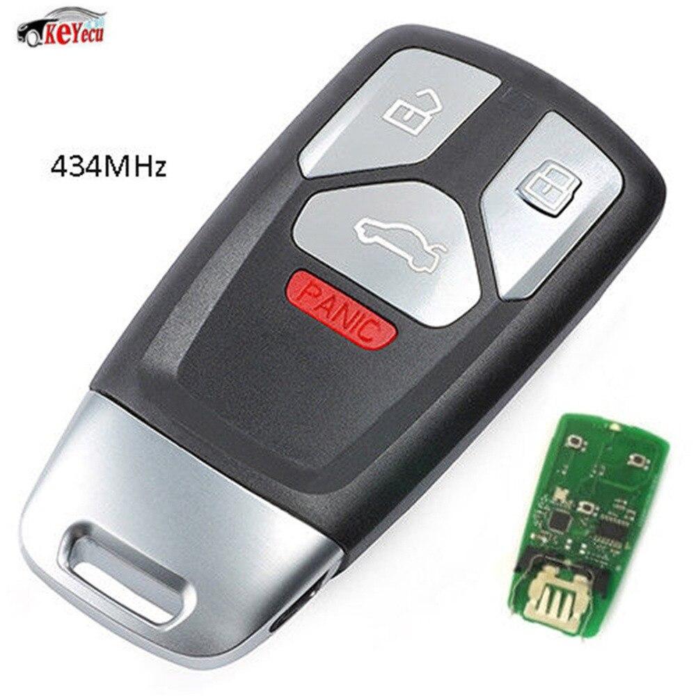 KEYECU nouveau remplacement sans clé entrée Smart télécommande voiture porte-clés 434 MHz pour Audi 2017-up A4 A5 Q7, 2016-up TT