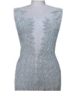 Image 3 - Handgemaakte kralen strass parel trim patches sew op applique 55*31 cm voor jurk voor en achter