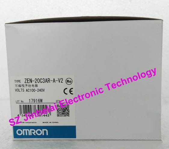 100%New and original  ZEN-20C3AR-A-V2  OMRON Programmable relay  AC100-240V [zob] new original omron omron beam photoelectric switch e3jk tr12 c 2m 2pcs lot