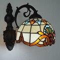Лампа E26/E27  барочная Витражная лампа Tiffany  настенный светильник в классическом европейском ретро стиле  прикроватное настенное бра для кори...