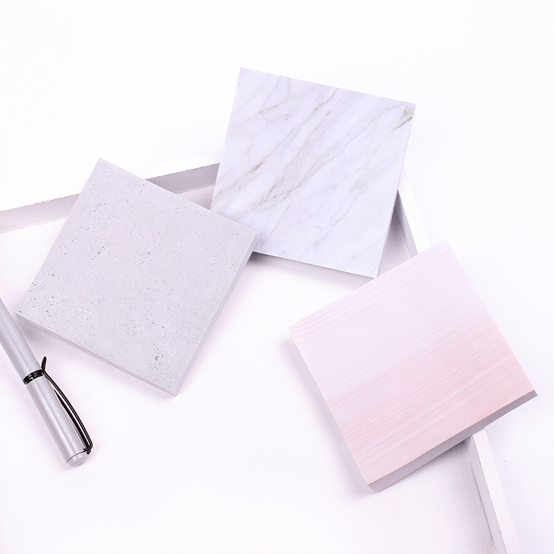 Mohamm Marble Stone Sticky Notes Office Decoration Memo Sheets Memo Pads Notepad Stationery