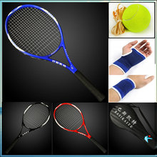 High Quality Carbon Tennis Racket Integrally Molded Carbon Composite Racquets Top Material Tennis Racket Bag With 4 Gifts