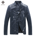 Men Leather Jacket and Coats PU Fashion Men Coats 2017 Slim Fits Stand Collar Men Jackets Leathers Chaqueta Cuero Hombre Men 5XL