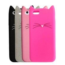 Симпатичный мультфильм cat силиконовые case Для iphone 5s 5 SE 6 7 6 S плюс 7 плюс cat Уши мягкие резиновые Coque обложка для iphone 5s 6 7 Case