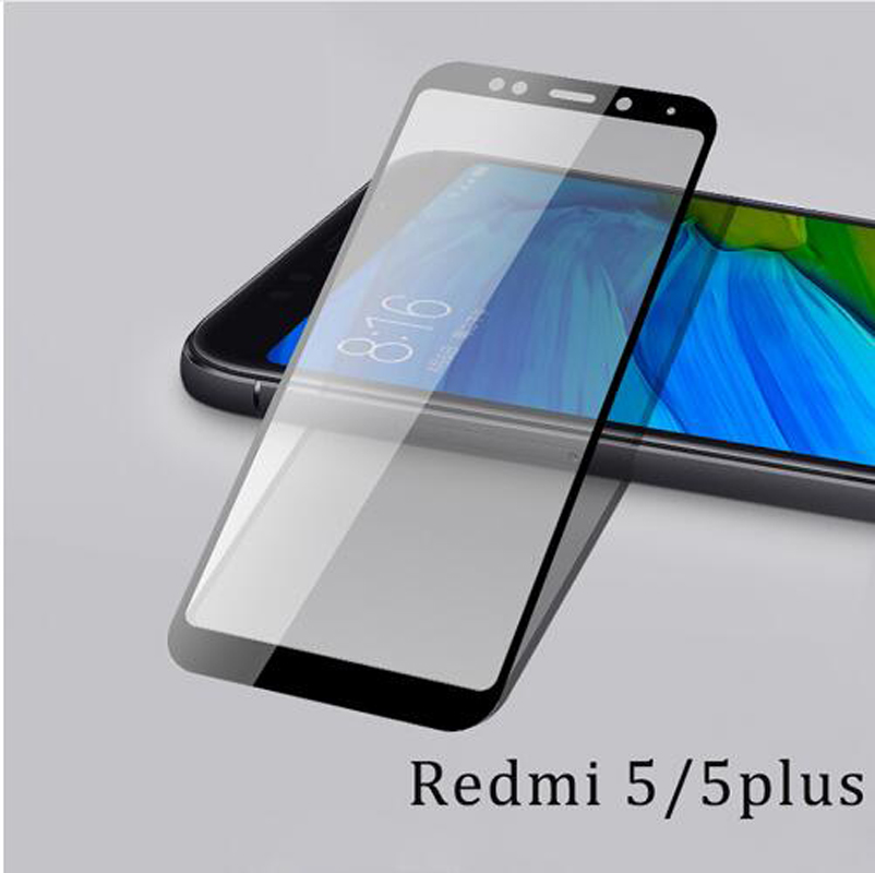 For Xiaomi redmi 5plus glass redmi5 screen protector full cover white and black protect film For xiaomi redmi 5 tempered glass in Phone Screen Protectors from Cellphones Telecommunications