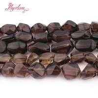 12x16 15x20 13x20 15x25mm Freeform Smokys Quartz Bead Natural Stone Beads For Necklace Bracelat Jewelry Making 15 Free Shipping
