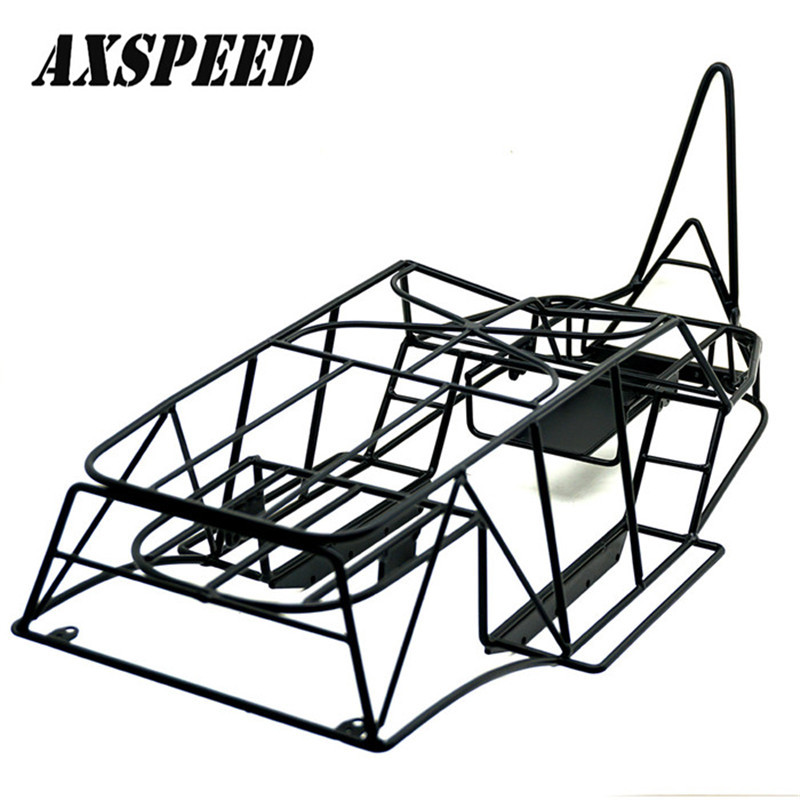 все цены на Axial Wraith Metal Frame Roll Cage w/inner Parts 1/10 Scale Rock Crawler Body Black Chassis 90018 онлайн