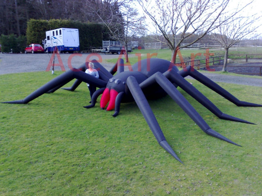 so big halloween inflatable front yard decoration huge inflatable spider model for belgium - Giant Spider Halloween Decoration