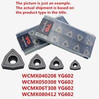 WCMX040208 YG602/WCMX050308 YG602/WCMX06T308 YG602/WCMX080412 YG602 корейские YG карбидные режущие пластины для фрезы для стали  нержавеющей стали
