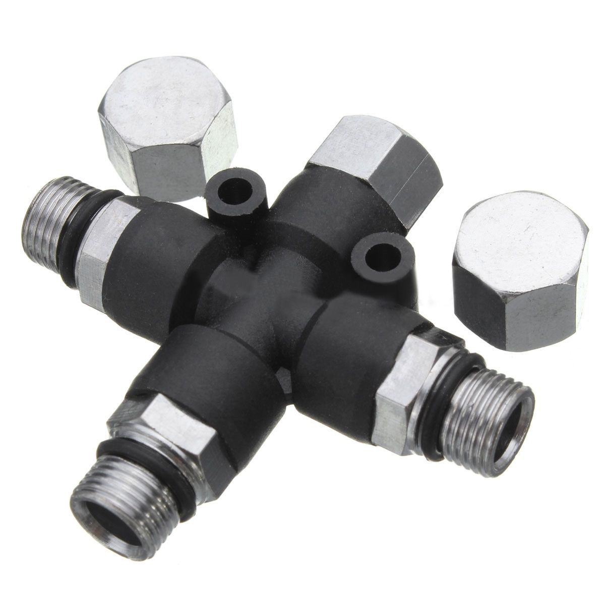 Mayitr 3 Way Air Splitter Fitting Connector 1/8 BSP 50 MPa Multi Use Nail Painting Spray Accessory For Airbrush Mini Compressor kkmoom high quality 3 way airbrush air hose splitter aerografo accessories with 1 4 bsp female inlet 1 8 bsp male air outlet