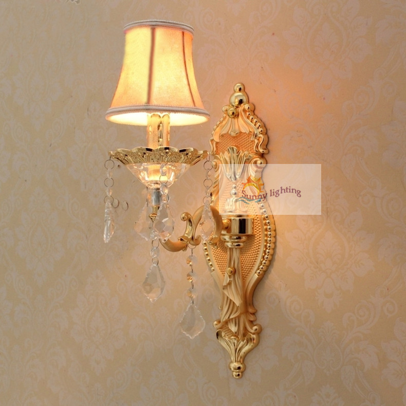 Compare prices on star light wall sconces online shoppingbuy low free shipping star hotel vintage wall sconce antique wall lamps with lampshade gold modern bedroom wall mozeypictures Choice Image