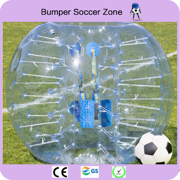 Envío gratis 0.8mm 100% TPU 1.5 m Zorb Ball Bola de fútbol inflable Bola de parachoques de aire Bola Burbuja de fútbol
