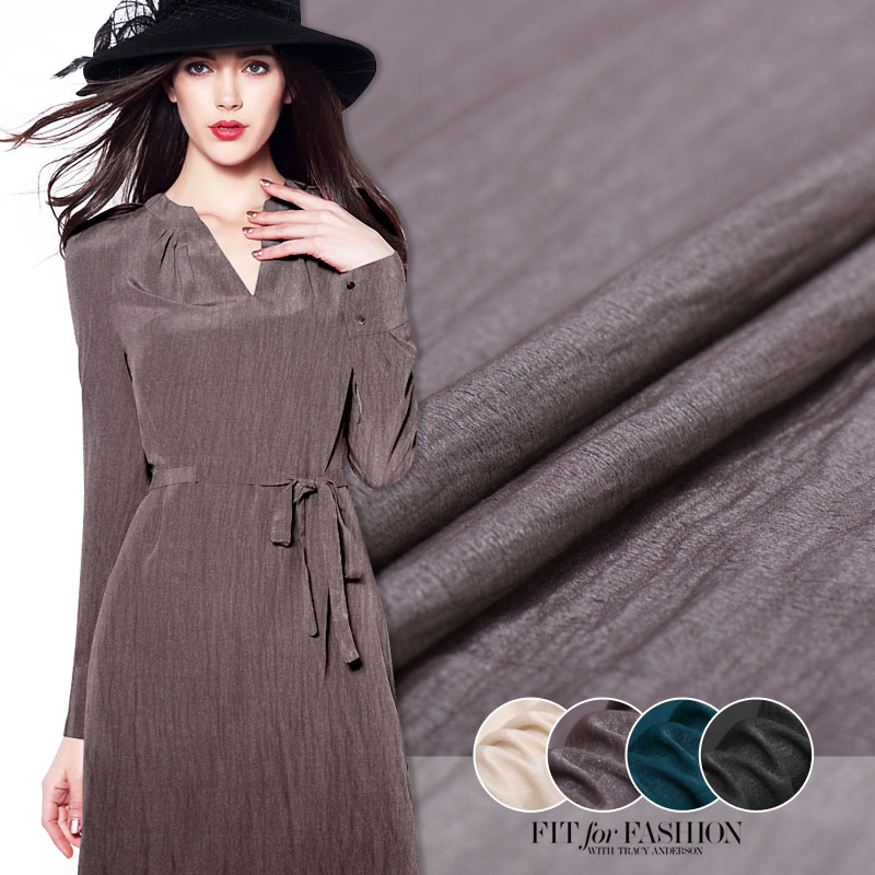 Micro pleated silk linen italian fashion micro stretch for High end fashion websites
