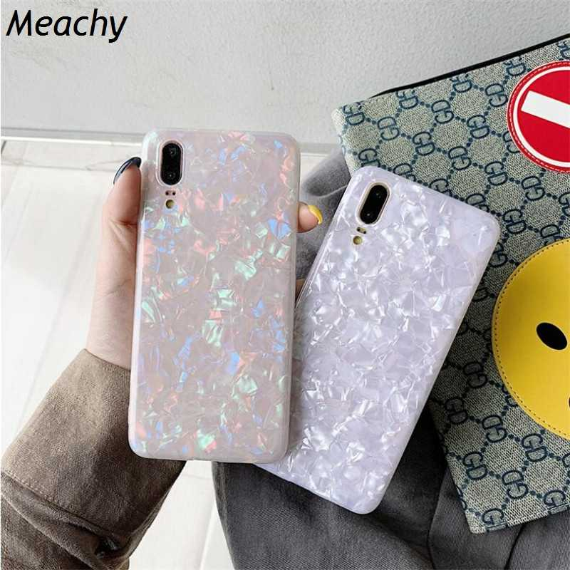 Fashion Conch Shell Shine Phone Case For Huawei Honor 10 9 9i Honor PLAY V10 V20 7A 8A Soft Cover Case For Huawei Honor 20 Pro