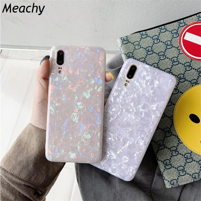 Fashion Conch Shell Shine Phone Case For Huawei Honor 10 9 9i Honor PLAY V10 V20 7A 8A Soft Cover Case For Huawei Honor 20 Pro image