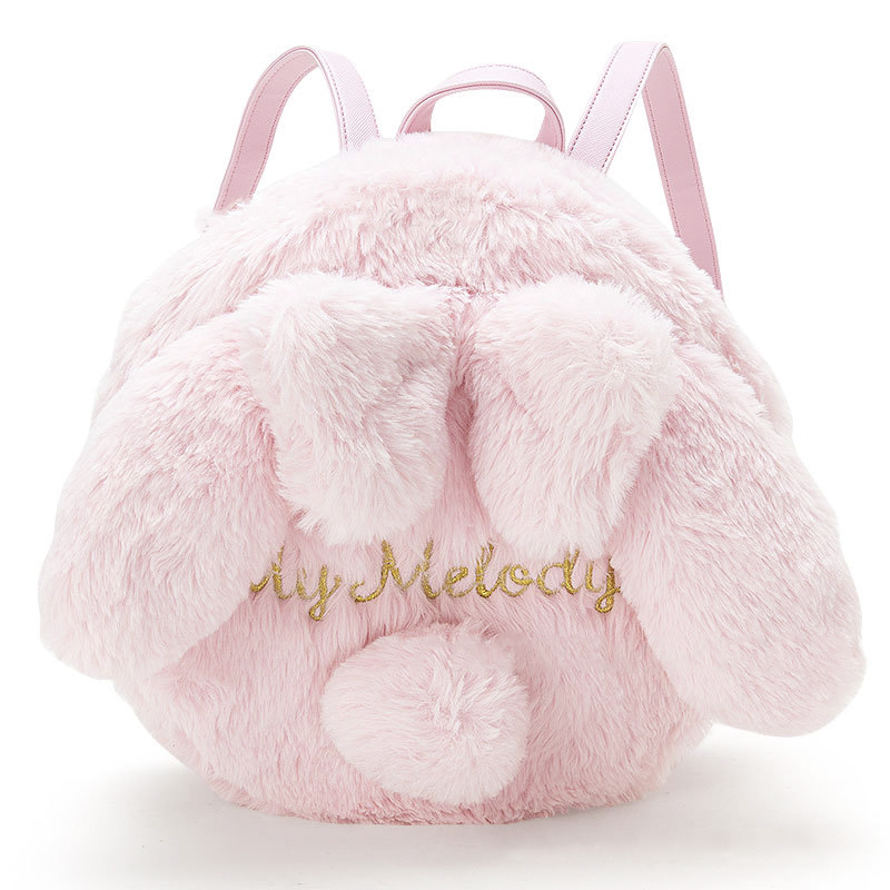 Princess sweet lolita bag Autumn and winter soft sister the same Shoulder Bag Pink Plush bag rabbit hair cute cartoon MZSN019 rabbit lop english lop lolita style kawai quality plush bag cartoon shoulder bag anime toy best gift for children and girls