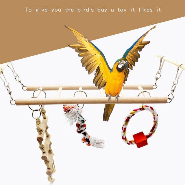 Suspension Bridge Pet Bird Toy Hammock Climbing Frame Toy For ...