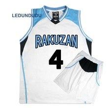 Anime Kuroko no Basuke kosz Cosplay Rakuzan mundurki szkolne Akashi Seijuro mężczyźni koszulka sportowa koszulka spodenki kostium zestaw