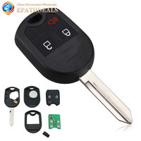 Auto Car Uncut Remote Head Ignition Key Keyless Entry Combo Transmitter Fob 3 Buttons