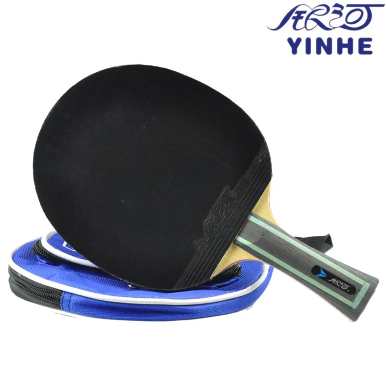 ФОТО YINHE Original 6 Star Table Tennis Racket with Rubber Pips-In + Bag Set Pimples In Ping Pong Bat