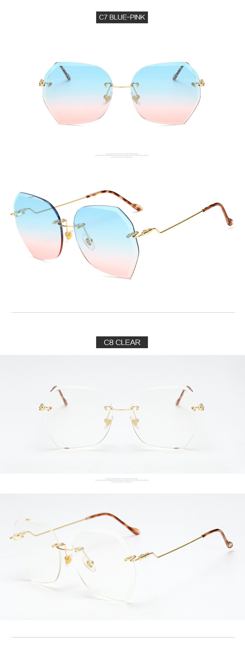Apparel Accessories Straightforward Ladies 2018 Brand Designer Pink Blue Cat Eye Sunglasses Gold Metal Frame Uv400 Sun Glasses Polarized Sunglasses For Women Women's Glasses