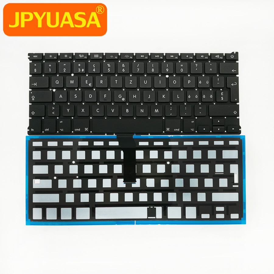 "10pcs/lot New Swiss Keyboard For Macbook Air 13"" A1369 A1466 Switzerland Standard with Backlight 2011-2015"