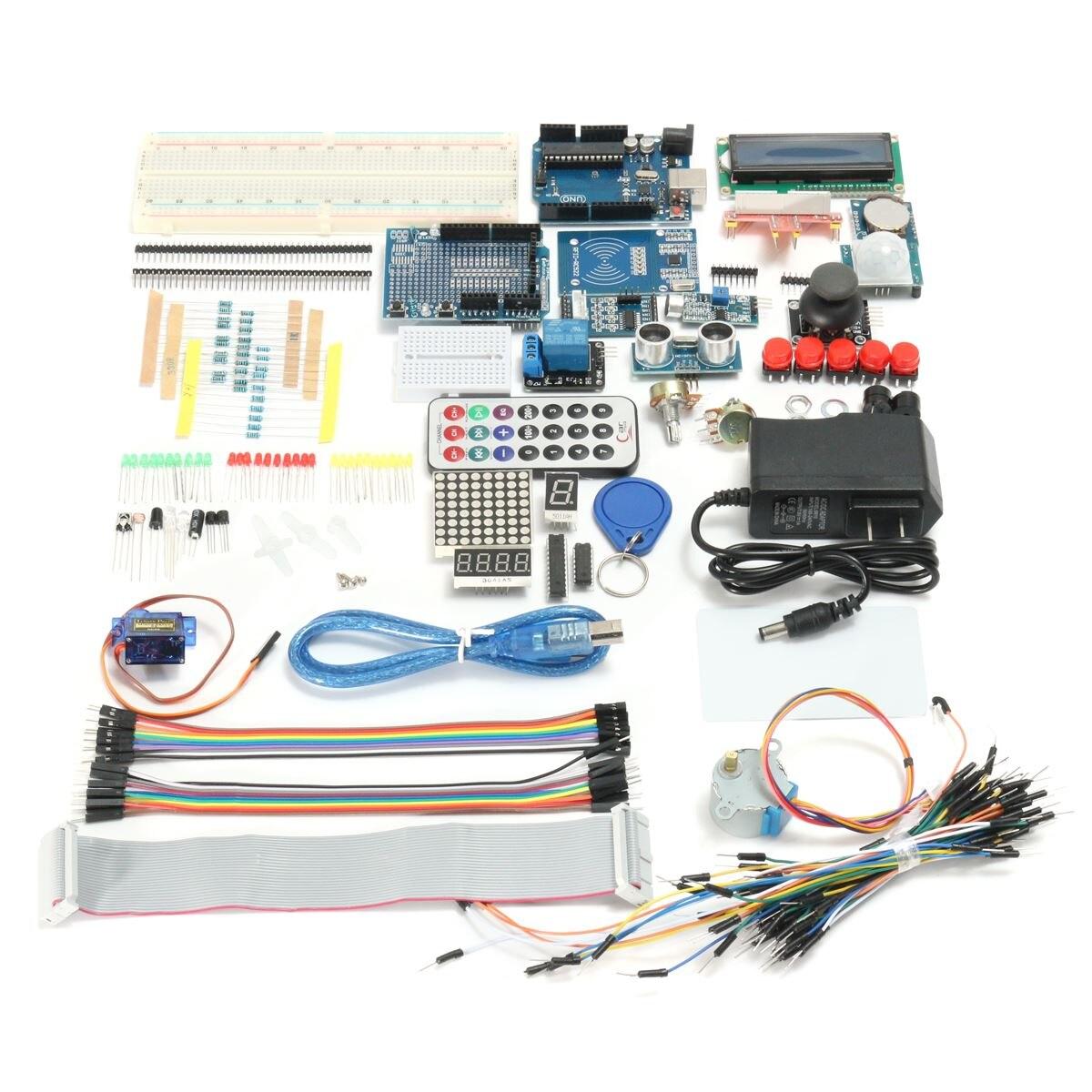 Новый электронный набор Полное издание UNO R3 Starter Kit для Arduino 1602LCD RFID реле сервопривода PIR адаптер