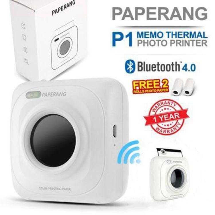 Термальность принтер Портативный Bluetooth 4,0 получения принтер фотопринтер телефон Беспроводной мини-принтеры 1000 мАч литий-ионный