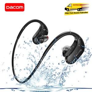 Image 1 - Dacom L05 Basgeluid Sport Bluetooth Headset Draadloze Hoofdtelefoon IPX7 Waterdichte Draadloze Stereo Headset Voor Iphone Xiaomi Huawei