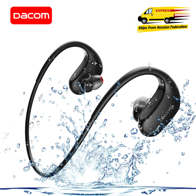 Dacom L05 Basgeluid Sport Bluetooth Headset Draadloze Hoofdtelefoon IPX7 Waterdichte Draadloze Stereo Headset Voor Iphone Xiaomi Huawei