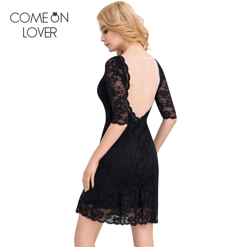 Comeonlover 2017 새로운 신축성 여성 레이스 드레스 - 여성 의류 - 사진 3