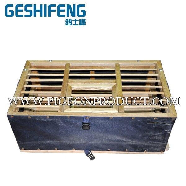 24 pc livraison gratuite 40 cm cage en bois noir pour le suivi et le transport des pigeons