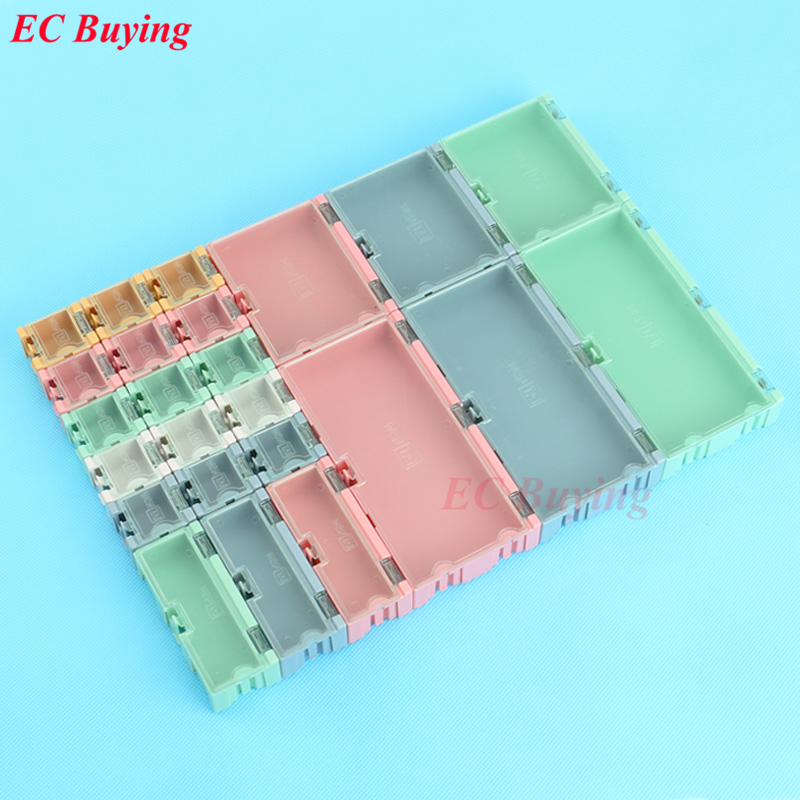1 set 24 pcs SMD SMT IC Electronic Component Mini Storage Box and Practical Jewelry Storaged