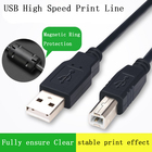 USB 2.0 Printer Cable Type A to B Male to Male 1.5M 3M Sync Data Scanner For Canon Epson HP zjiang Label Printer DAC print USB
