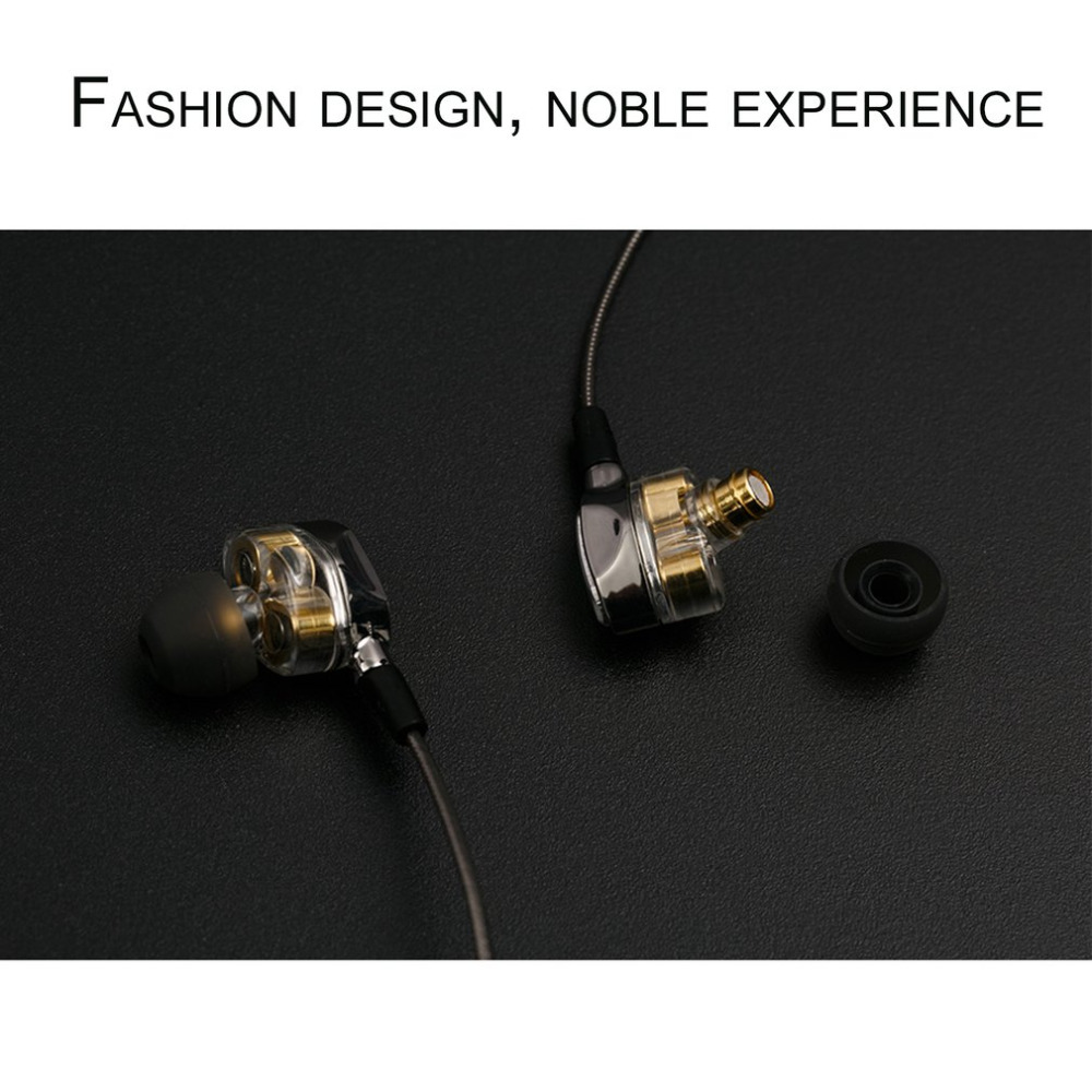 In-ear HiFi Earphones Dual Dynamic Driver 4D Stereo Surround Noise Canceling Professional HIFI Earbuds With Mic sur s525 dynamic stereo music in ear earphones drive by wire