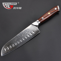 7 inch sankotu knives high carbon VG10 Japanese 67layers Damascus kitchen knife stainless steel gyuto knife rose wood handle