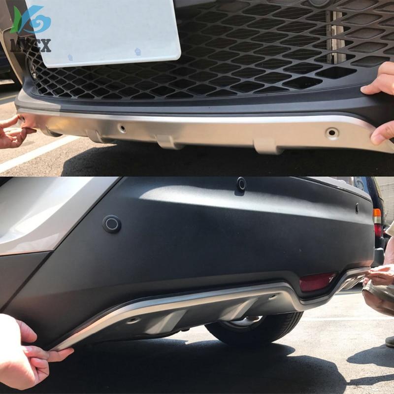 Accessoires en acier inoxydable plaque de protection extérieure avant et arrière pare-chocs 2 pièces pour Toyota C-HR CHR 2016 2017 2018